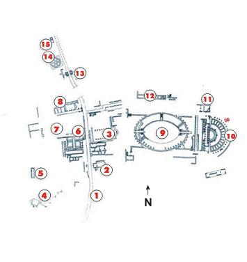Carsulae mappa