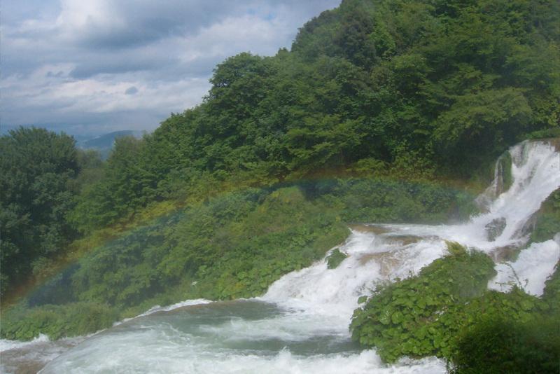 Cascata delle Marmore arcobaleno